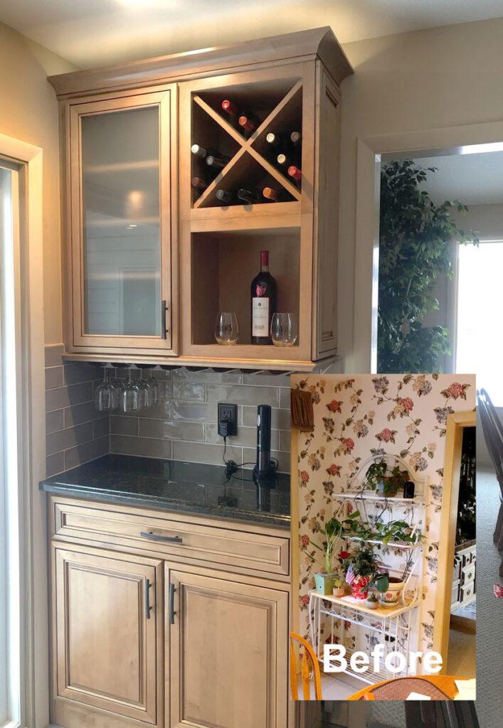 kitchen wine bar remodel