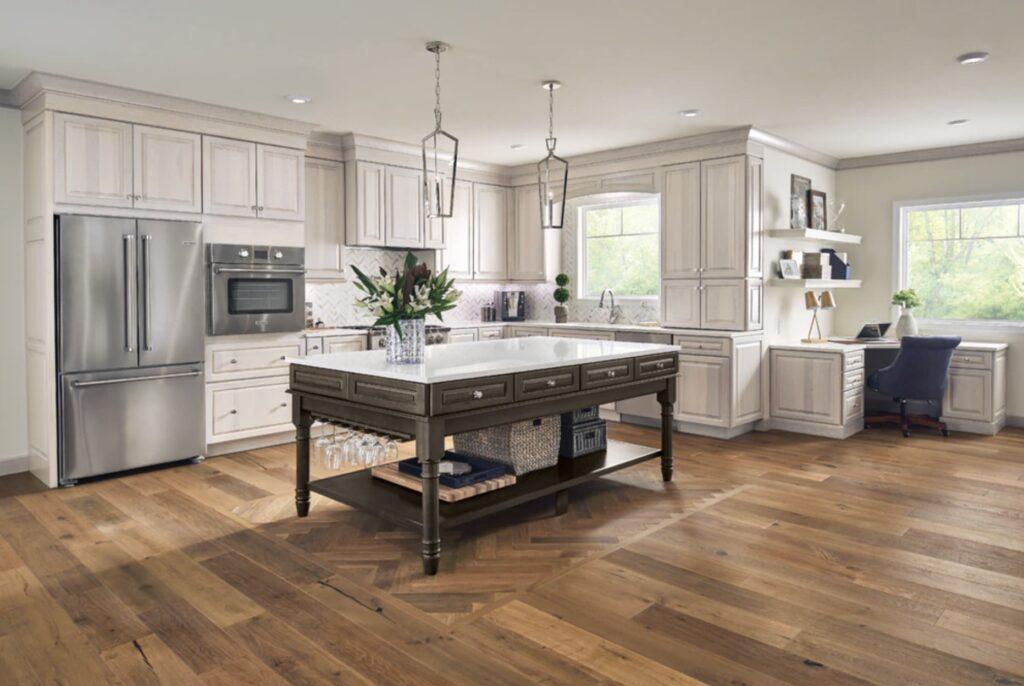 kraftmaid transitional kitchen remodel